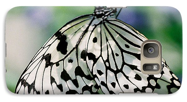 Galaxy Case featuring the photograph Paper Rice Butterfly by Donna Brown