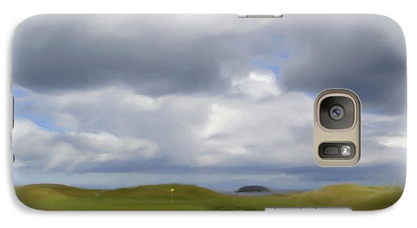 Galaxy Case featuring the painting Par 3 Ireland by Jan Daniels