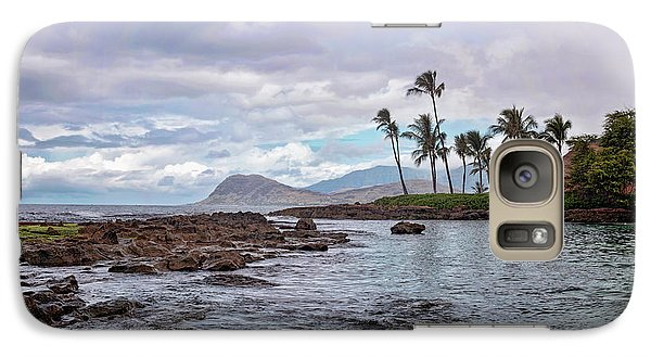 Galaxy Case featuring the photograph Paradise Cove Lagoon by Heather Applegate