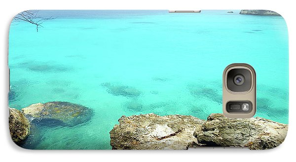Galaxy Case featuring the photograph Paradise Island, Curacao by Kurt Van Wagner