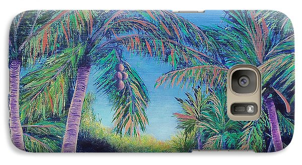 Galaxy Case featuring the painting Paradise by Susan DeLain