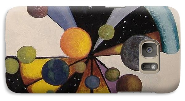 Galaxy Case featuring the painting Parallel  Universe by Steve  Hester