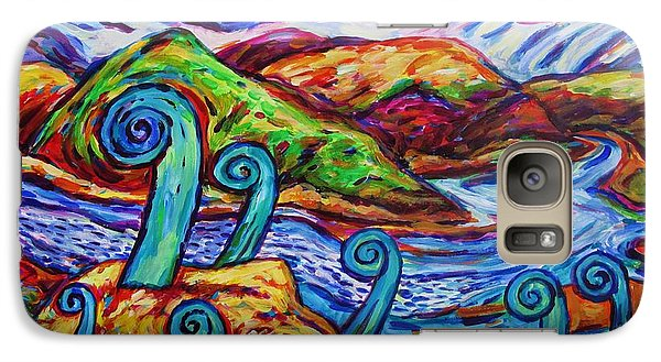 Galaxy Case featuring the painting Paratawhiti At Oruru River by Dianne  Connolly