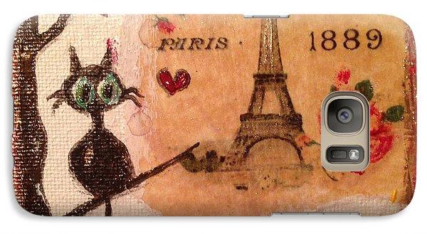 Paris Cat  Galaxy Case by Roxy Rich