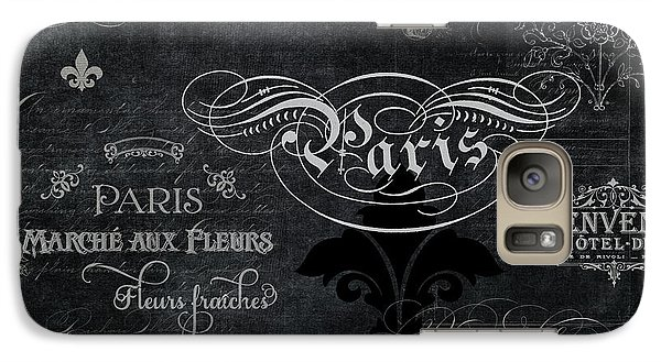 Galaxy Case featuring the painting Paris Chalkboard Typography 1 by Audrey Jeanne Roberts