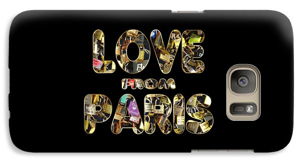 Galaxy Case featuring the painting Paris City Of Love And Lovelocks by Georgeta Blanaru