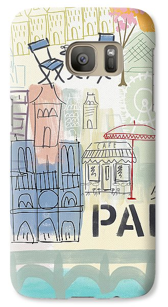 Paris Cityscape- Art By Linda Woods Galaxy S7 Case