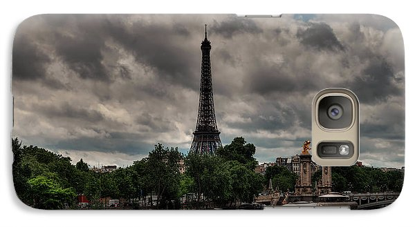 Galaxy Case featuring the photograph Paris - Eiffel Tower From The Seine 001 by Lance Vaughn