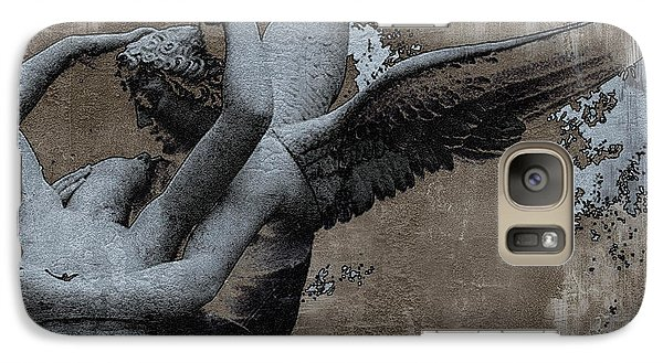 Louvre Galaxy S7 Case - Paris Eros And Psyche - Surreal Romantic Angel Louvre   - Eros And Psyche - Cupid And Psyche by Kathy Fornal
