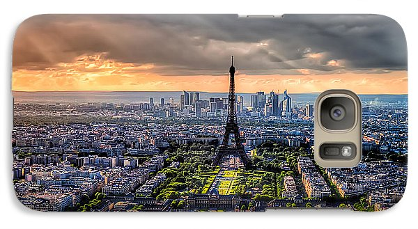 Galaxy Case featuring the photograph Paris From Above by Tim Stanley