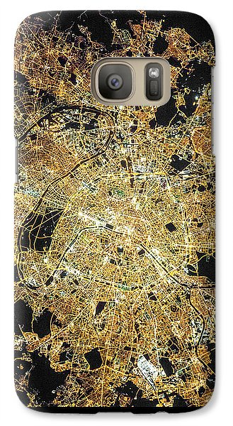 Galaxy Case featuring the photograph Paris From Space by Delphimages Photo Creations