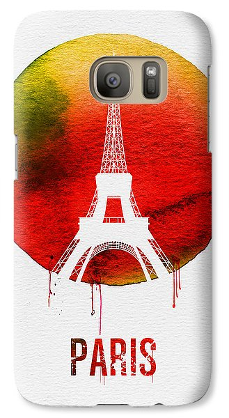 Paris Landmark Red Galaxy S7 Case by Naxart Studio