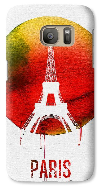 Paris Landmark Red Galaxy Case by Naxart Studio