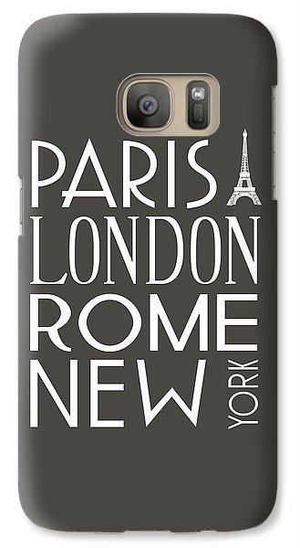 Galaxy Case featuring the digital art Paris, London, Rome And New York Pillow by Jaime Friedman