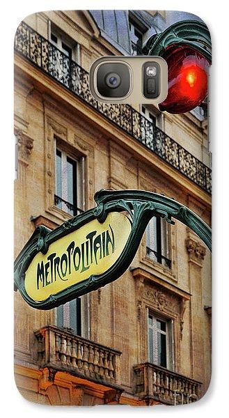 Galaxy Case featuring the photograph Paris Metropolitain by Elena Nosyreva