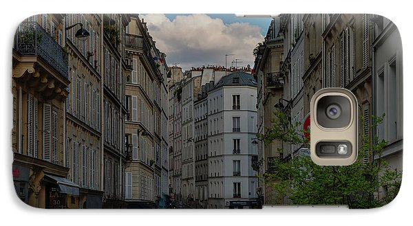 Galaxy Case featuring the photograph Paris - Montmartre Streetscape 001 by Lance Vaughn