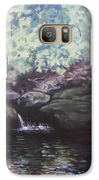 Galaxy Case featuring the painting Paris Mountain Waterfall by Robert Decker