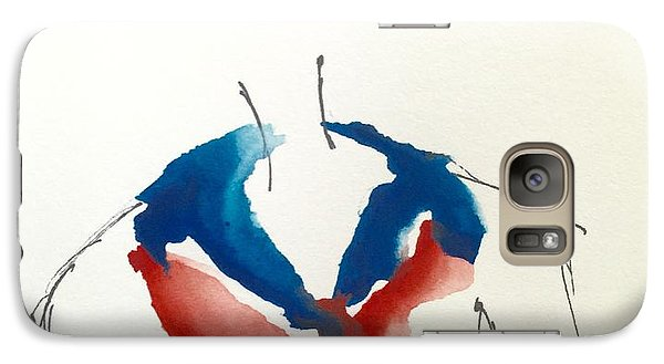 Galaxy Case featuring the painting Paris, Pour Toi by Trilby Cole