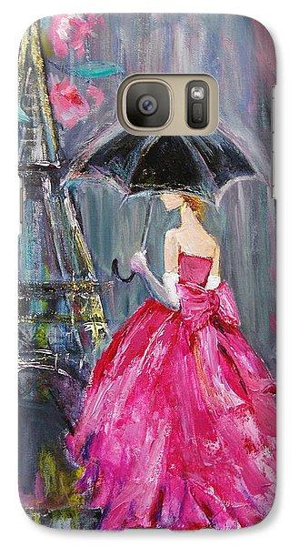 Galaxy Case featuring the painting Paris Rain by Jennifer Beaudet