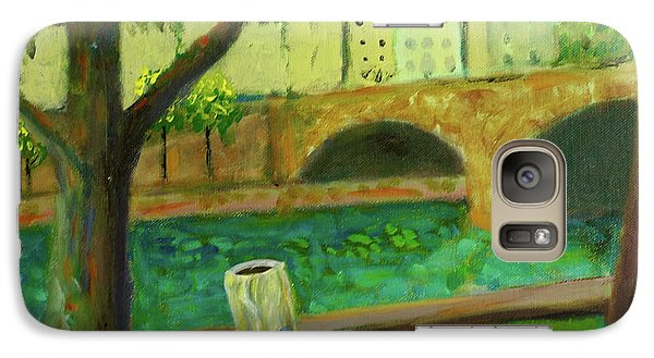 Galaxy Case featuring the painting Paris Rubbish by Paul McKey