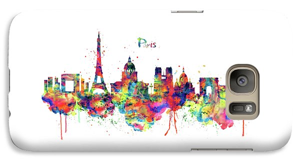 Galaxy Case featuring the mixed media Paris Skyline 2 by Marian Voicu