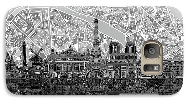Paris Skyline Black And White Galaxy S7 Case