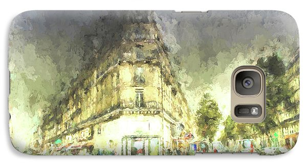 Galaxy Case featuring the mixed media Paris Streets by Jim  Hatch