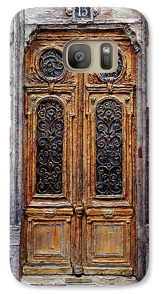 Galaxy Case featuring the painting Parisian Door No. 15 by Joey Agbayani