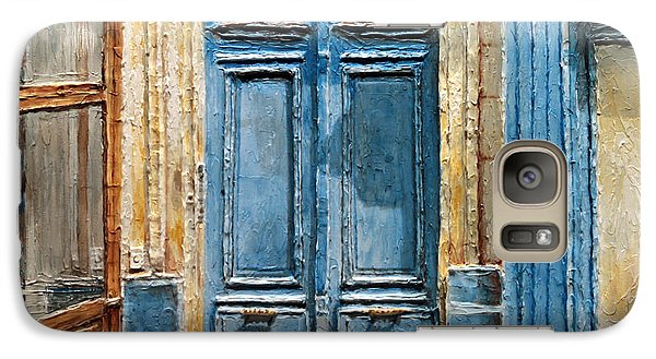 Galaxy Case featuring the painting Parisian Door No.36 by Joey Agbayani