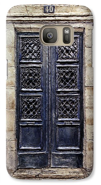 Galaxy Case featuring the painting Parisian Door No.40 by Joey Agbayani