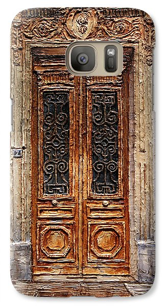 Galaxy Case featuring the painting Parisian Door No.7 by Joey Agbayani