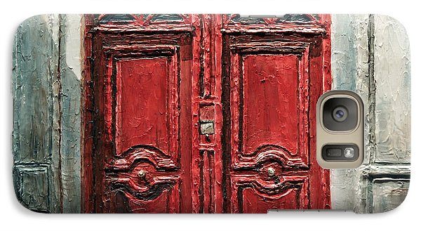 Galaxy Case featuring the painting Parisian Door No.9 by Joey Agbayani