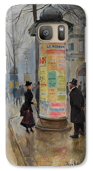 Galaxy Case featuring the photograph Parisian Street Scene by John Stephens