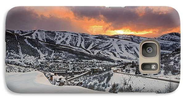 Galaxy Case featuring the photograph Park City Winter Sunset. by Johnny Adolphson