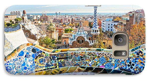 Galaxy Case featuring the photograph Park Guell Barcelona by Luciano Mortula