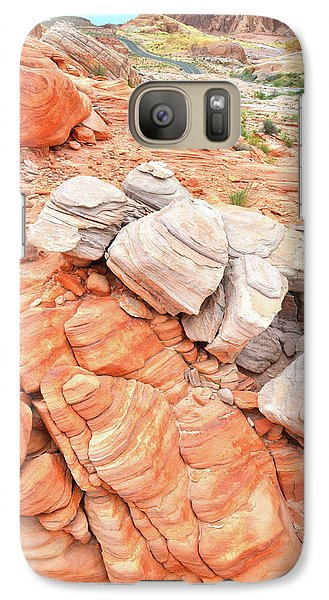 Galaxy Case featuring the photograph Park Road Sandstone In Valley Of Fire by Ray Mathis