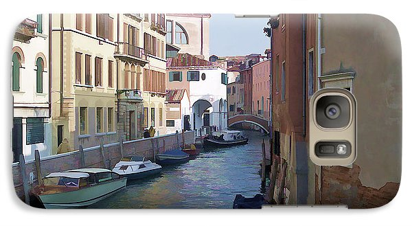 Galaxy Case featuring the photograph Parked In Venice by Roberta Byram