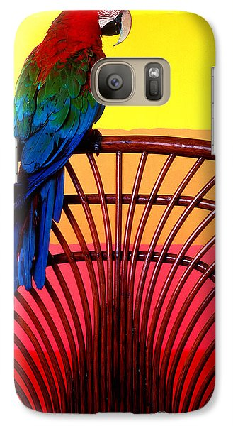 Parrot Sitting On Chair Galaxy S7 Case by Garry Gay