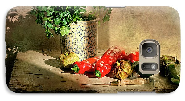 Galaxy Case featuring the photograph Parsley And Peppers by Diana Angstadt