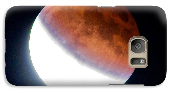 Galaxy Case featuring the photograph Partial Super Moon Lunar Eclipse by Todd Kreuter