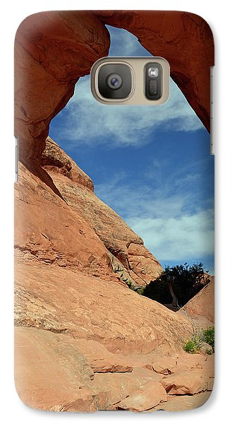 Galaxy Case featuring the photograph Partition Arch In Arches National Park by Bruce Gourley