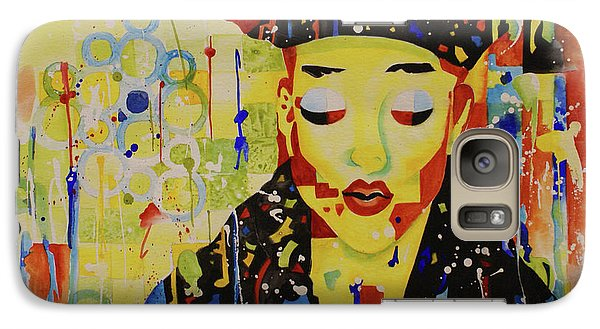 Galaxy Case featuring the painting Party Girl by Cynthia Powell