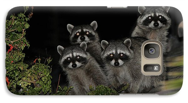 Galaxy Case featuring the photograph Party Of Five On The Roof Top by Nina Prommer