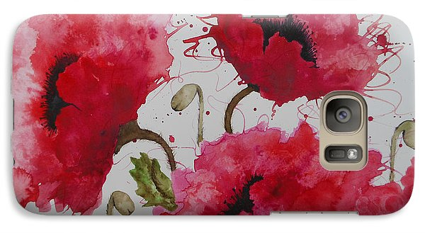 Galaxy Case featuring the painting Party Poppies by Karen Kennedy Chatham