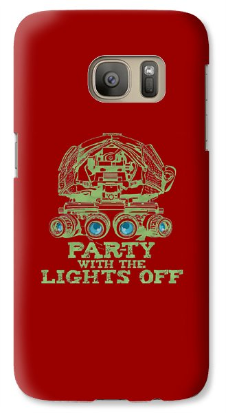 Galaxy Case featuring the mixed media Party With The Lights Off by TortureLord Art