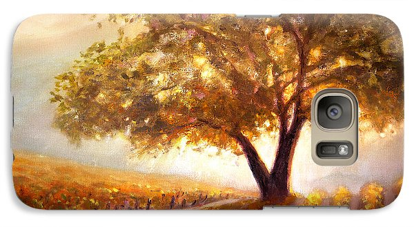 Galaxy Case featuring the painting Paso Robles Golden Oak by Michael Rock