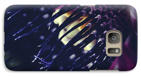 Galaxy Case featuring the photograph Passiflora Alata - Winged Stem Passion Flower - Ruby Star - Ouva by Sharon Mau