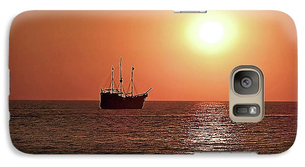 Galaxy Case featuring the photograph Passing By In Calm Waters by Joan  Minchak