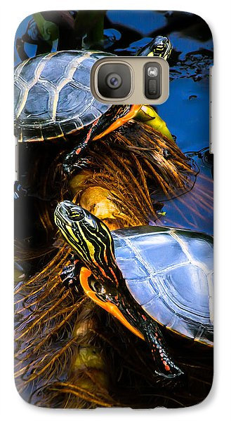 Passing The Day With A Friend Galaxy S7 Case by Bob Orsillo