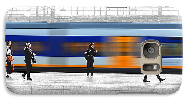 Galaxy Case featuring the photograph Passing Train by Pedro L Gili
